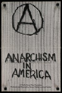 9k494 ANARCHISM IN AMERICA 13x20 special '83 Steven Fischler, anarchy documentary!