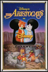 9k253 ARISTOCATS tv poster R00s Walt Disney feline jazz musical cartoon, great colorful image!