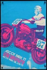 9k496 ASCOT PARK TT 24x36 special '72 cool motorcycle art image by Dave Friedman & Duane Unkefer!