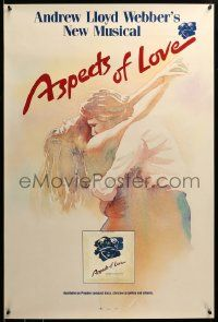 9k380 ASPECTS OF LOVE 24x36 music poster '90 Ann Crumb, Trevor Nunn Broadway musical!