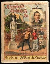 9k041 ATKINSON'S APHRODITE CO 20x26 stage poster 1880s art of Aphrodite statue coming to life!