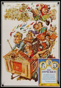 9k498 BANK SHOT 2-sided 23x33 special '74 art of George C. Scott taking the bank by Jack Davis!