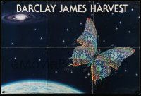9k382 BARCLAY JAMES HARVEST 2-sided 20x30 music poster '78 cool space art with groovy butterfly!