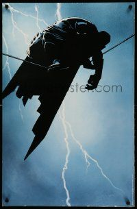 9k500 BATMAN 22x34 special '96 cool artwork of caped crusader on wire!