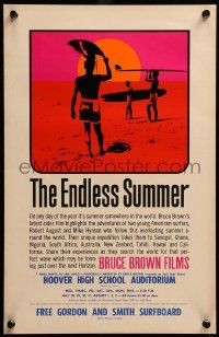 9k002 ENDLESS SUMMER 11x17 special '65 Bruce Brown, John Van Hamersveld art, predates the 1sheet!