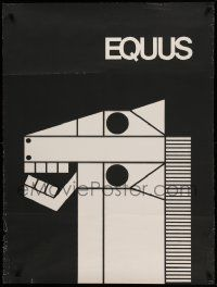 9k062 EQUUS 30x40 stage poster '74 really cool geometric art of horse's head by Gilbert Lesser!