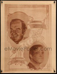 9k004 GEORGE MCGOVERN 17x22 political campaign '72 close-up, with running mate Shriver!