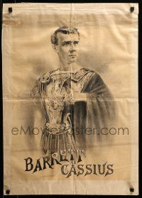 9k047 JULIUS CAESAR 19x28 stage play poster 1880s great art of Lawrence Barrett as Cassius!