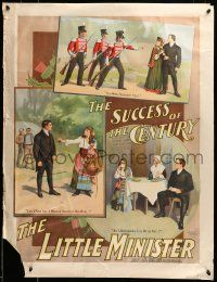 9k048 LITTLE MINISTER 26x34 stage poster 1897 by Peter Pan's J.M. Barrie, first play version!