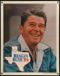 9k006 REAGAN BUSH '84 22x28 political campaign '84 great close up of the former President!