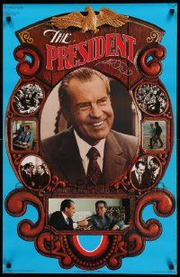 9k009 RICHARD NIXON 22x34 political campaign '72 great images, he's up for re-election!