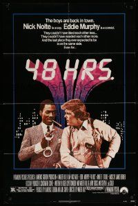 9p014 48 HRS. 1sh '82 Nick Nolte is a cop who hates Eddie Murphy who is a convict!