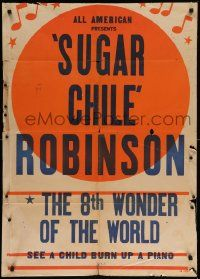 9p005 8TH WONDER OF THE WORLD 1sh '40s black African American Sugar Chile Robinson burns up piano!