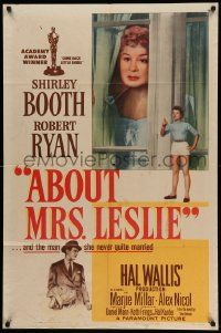 9p016 ABOUT MRS. LESLIE 1sh '54 Shirley Booth, Robert Ryan, the man she never quite married!