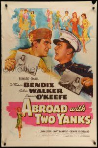 9p018 ABROAD WITH 2 YANKS 1sh '44 Marines William Bendix & Dennis O'Keefe lust after Helen Walker!
