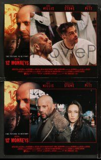 9r020 12 MONKEYS 8 LCs '95 Bruce Willis, Brad Pitt, Stowe, Terry Gilliam directed sci-fi!