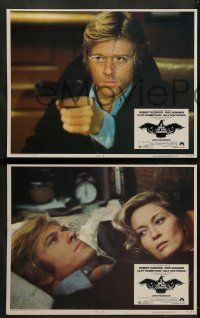 9r022 3 DAYS OF THE CONDOR 8 LCs '75 analyst Robert Redford & Faye Dunaway, Sidney Pollack!