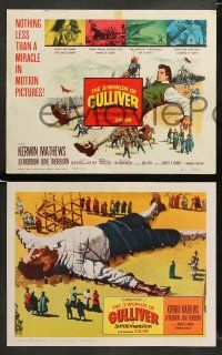 9r023 3 WORLDS OF GULLIVER 8 LCs '60 Ray Harryhausen fantasy classic, cool special effects scenes!
