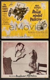 9r029 ABSENT-MINDED PROFESSOR 8 LCs '61 Walt Disney, Flubber, Fred MacMurray in title role