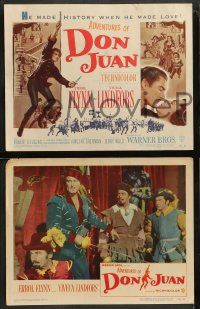 9r035 ADVENTURES OF DON JUAN 8 LCs '49 swashbuckling Flynn & Lindfors in a breathless adventure!