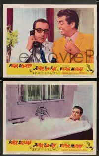 9r039 AFTER THE FOX 8 LCs '66 De Sica's Caccia alla Volpe, Peter Sellers, Victor Mature!