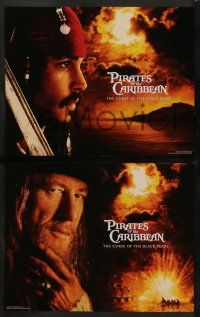 9r004 PIRATES OF THE CARIBBEAN 14 LCs '03 Johnny Depp as Jack Sparrow, Keira Knightley, Bloom!