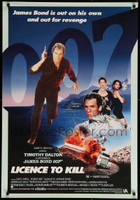 9t031 LICENCE TO KILL Aust 1sh '89 Timothy Dalton as James Bond, he's out for revenge!
