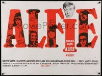 9t403 ALFIE British quad '66 British cad Michael Caine loves them & leaves them, ask any girl!