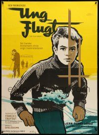 9t185 400 BLOWS Danish '59 art of Jean-Pierre Leaud as young Francois Truffaut by Stilling!