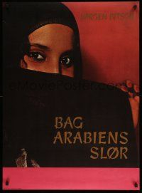 9t188 BAG ARABIENS SLOR Danish '60s great image of veiled woman with red nails and sexy eyes!