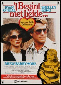 9t004 IRRECONCILABLE DIFFERENCES Dutch '85 Ryan O'Neal, Shelley Long, young Drew Barrymore!