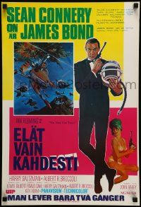 9t013 YOU ONLY LIVE TWICE Finnish R80s art of Sean Connery as James Bond by Robert McGinnis!