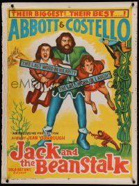 9t023 JACK & THE BEANSTALK Indian R60s Abbott & Costello, first in color, different art!