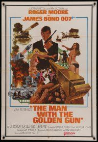 9t025 MAN WITH THE GOLDEN GUN Indian '74 Roger Moore as James Bond by Robert McGinnis