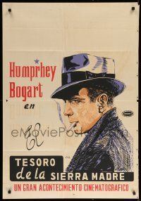 9t016 HUMPHREY BOGART South American '60s Treasure of Sierra Madre, but Maltese Falcon art!