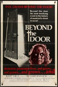 9y072 BEYOND THE DOOR 1sh 74 demonic possession lives the most terrifying event of mankind
