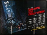 1b029 ESCAPE FROM NEW YORK subway poster '81 Carpenter, art of decapitated Lady Liberty by Jackson!