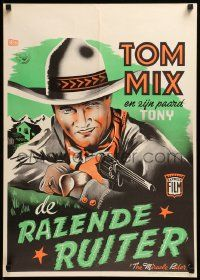 1f007 MIRACLE RIDER Dutch '35 Tom Mix is the idol of every boy in the world in this serial!