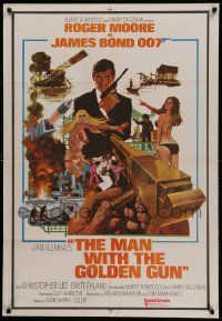 1f014 MAN WITH THE GOLDEN GUN Indian '74 Roger Moore as James Bond by Robert McGinnis