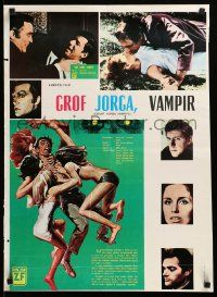 1f022 COUNT YORGA VAMPIRE Yugoslavian 19x27 '70 AIP, mistresses of the deathmaster feeding!!