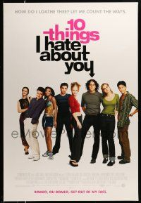 1g034 10 THINGS I HATE ABOUT YOU DS 1sh '99 Julia Stiles, Heath Ledger, modern Shakespeare!