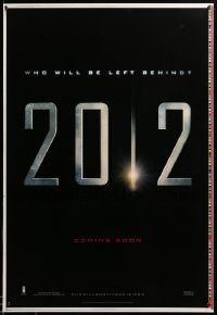 1g035 2012 printer's test teaser DS 1sh '09 John Cusack, Chiwetel Eliofor, the end of the world!