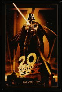 1g024 20TH CENTURY FOX 75TH ANNIVERSARY 27x40 commercial poster '10 Darth Vader, Star Wars!