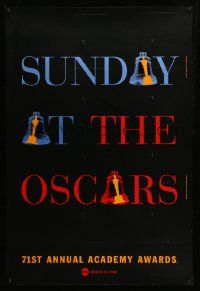 1g039 71ST ANNUAL ACADEMY AWARDS 1sh '99 Sunday at the Oscars, cool ringing bell design!