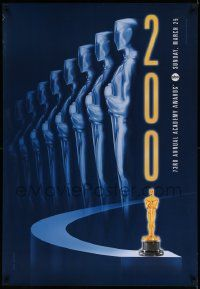 1g040 73RD ANNUAL ACADEMY AWARDS 1sh '01 cool Alex Swart design & image of many Oscars!