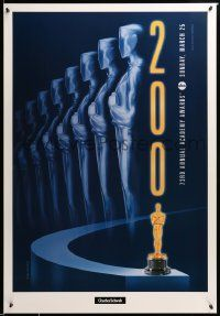 1g041 73RD ANNUAL ACADEMY AWARDS 1sh '01 cool Swart design & image of Oscar, Charles Schwab!