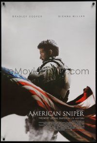 1g083 AMERICAN SNIPER int'l advance DS 1sh '14 December style, Eastwood, Cooper as Chris Kyle!