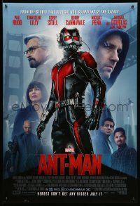 1g087 ANT-MAN advance DS 1sh '15 Paul Rudd in title role, Michael Douglas, Evangeline Lilly!