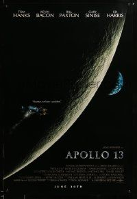1g088 APOLLO 13 advance 1sh '95 Ron Howard directed, Tom Hanks, image of module in moon's orbit!