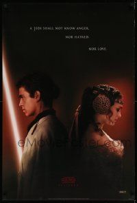 1g020 ATTACK OF THE CLONES style A teaser DS 1sh '02 Star Wars, Christensen & Natalie Portman!